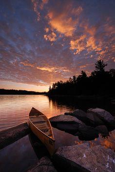 Sunrise on Diamond Lake, Temagami, #Ontario, #Canada
