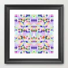 Lilac tribomb Framed Art Print