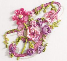 Notice: Undefined variable: capt in /usr/www/users/dicraf/Plogger/plog-content/themes/softer/picture.php on line LETTER G Embroidery Alphabet, Embroidery Art, Cross Stitch Embroidery, Embroidery Designs, Ribbon Embroidery Tutorial, Silk Ribbon Embroidery, Ribbon Art, Ribbon Crafts, Ribbon Flower