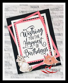 Pampered Pets Bundle (#154136) features Playful Pet stamp and Pets dies. Card design also uses the Playful Pets DSP. Dog Cards, Kids Cards, Pet Cows, Birthday Wishes Cards, Homemade Christmas Cards, Stampin Up Catalog, Animal Birthday, Stamping Up Cards, Animal Cards