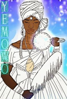 """Yemowo não é Yemonjá, elas são da mesma família mas não são as mesmas. O nome Yemowô vem de """"Iyè mí owó"""" que significa Iyè (mãe)..."""