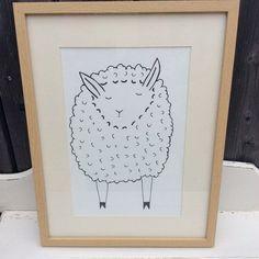 Kinderbild Schaf Zeichnung schwarz weiß