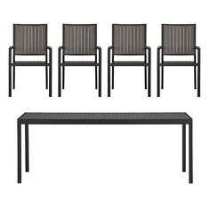 i am waiting for a shipping quote for this along with a matching dining bench.  stay tuned!   Alfresco Grey 5-Piece Rectangular Dining Set
