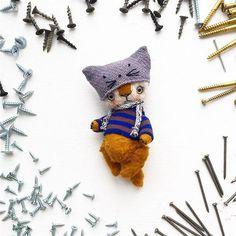Bear in cat hat.