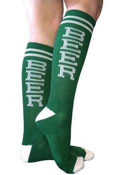 Don't Forget YOUR Green Beer Knee High Socks to Wear on St. Patty's Day - Available Online (www.kneehighsocks.org)