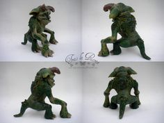 Details to the Green Beast. The Goblin Beastmaster and Green Beast available in my Etsy shop.Hope you like it. ^_^  You can see more photos in my store, only click on the link https://www.etsy.com/es/shop/TraslaPuerta Ooak Art Doll One of a Kind Fantasy Sculpture