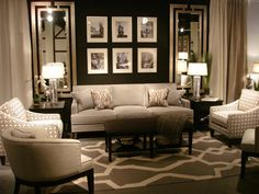 The Dark Accent Wall Fireplace And Custom Wood Floors Add