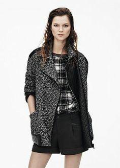 MANGO - CLOTHING - Shorts - Faux leather appliqué shorts