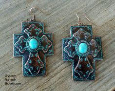 The trendiest apparel, jewelry, caps, in sizes we are now offering Plus Size clothing for the fully fabulous ladies! Time for some Gypsy Style! Cross Earrings, Ring Earrings, Sterling Silver Rings, Silver Jewelry, Cowgirl Bling, Turquoise Rings, Native American Jewelry, Gypsy Style, Western Style