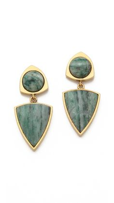 Lizzie Fortunato Healers Stone Earrings, $22