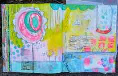"""""""Remember when we would swing high?""""  Art Journal page by Dori Patrick"""