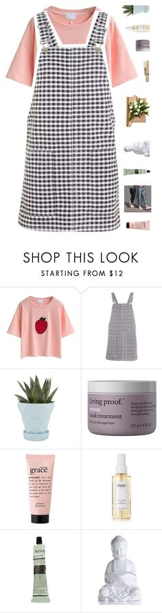 """""""the boulevard is not that bad + tag"""" by milkshakes-and-dogs ❤ liked on Polyvore featuring Topshop, Chive, Living Proof, philosophy, Ouai, Aesop, alltimefashion and sams5yrchallenge"""