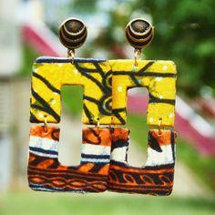 @afrotik brincos afro, feitos com tecidos africano