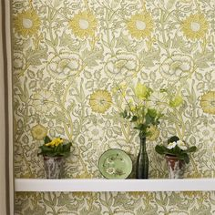 The Original Morris & Co - Arts and crafts, fabrics and wallpaper designs by William Morris & Company | Products | British/UK Fabrics and Wallpapers | Pink & Rose (DARW212566) | Archive II Wallpapers