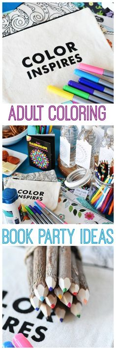Adult Coloring Book Party Ideas. Host your next girl's night in with these fun tips and tricks for an adult coloring book party get together AD #WhatInconvenience