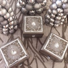 These embellished boxes are the perfect silver treat!