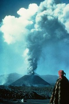 Parícutin, Michoacán, MEX. Parícutin is the youngest volcano in the western hemisphere, said to have grown from a cornfield from 1943 - 1952. The volcano has over 1400 vents and is now extinct. In its first year of activity Parícutin grew 424 meters of its final height of 2807 meters above sea level. 1000 people were killed in the last major eruption of Parícutin in 1949 and it is said ashes reached Mexico City which is located 322 kilometers from the location of Parícutin.