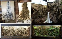 DIY Tree roots using PVC and wire chords