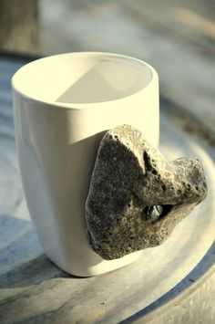Coffee mugs with an enjoyable rock climbing hold for the outdoorsy type.