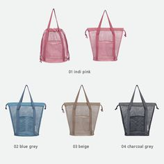 Travelus mesh bucket tote travel bag by Byfulldesign. The bag will keep your toiletry accessories safe, it's easy to access them, quicker and more convenient. Travel Tote, Reusable Bags, Small Bags, Bucket Bag, Leather Bag, Shopping Bag, Purses And Bags, Tote Bag, Bag Design