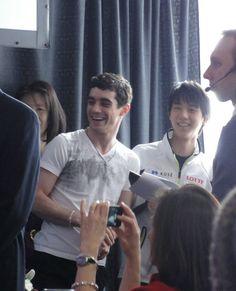 Yuzuru HANYU 羽生結弦 Javier Fernandez(Spain) ano Yuzuru Hanyu(JAPAN0 : World Figure Skating Championships 2013 in London(CANADA)