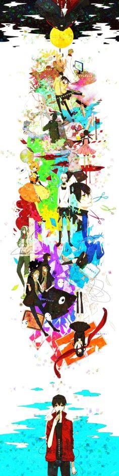 world kagerou project Manga Anime, Manga Art, Anime Art, Kagerou Project, Otaku, Mekakucity Actors Konoha, Vocaloid, Geeks, Haruhi Suzumiya