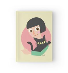 Warm  Hardcover Journal by BATKEI #Redbubble #cat #猫 #cats #feline #hardcover #journal