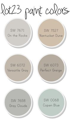 whole house interior paint colors (master bedroom, main bath, bedroom, master bathroom, kitchen and living room, powder room).