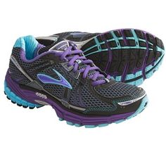 Brooks Adrenaline GTS 12 Running Shoes (For Women) in Ombre Blue/Black/Royal Purple/Aquarius/Silver