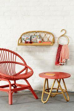 Tables Basses En Rotin Vintage Diabolo Du Vintage Du Rotin 2 Tailles Et 8 Coloris De Plateau