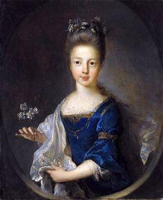 Portrait of Princess Louisa Maria Theresa Stuart (Jean-François de Troy - ) Maria Theresa, Troy, Adele, House Of Stuart, James Francis, 18th Century Fashion, 17th Century, Princess Louise, She's A Lady
