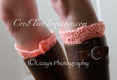 Lacy Boot Cuffs - Media - Crochet Me
