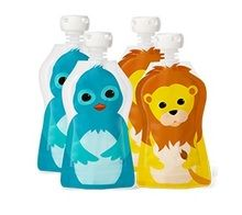 Aussie Bubs - Squooshi Reusable Food Pouches - Small 4 Pack  Pack - Ziplock Bags (Online) and Retail TBC
