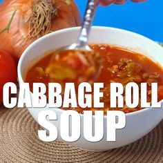 Delicious and easy recipe for Cabbage Roll Soup made in the slow cooker. Everything I love about a cabbage roll, but 100 times easier to make! Easy Cabbage Rolls, Cabbage Rolls Recipe, Cabbage Soup Recipes, Easy Rolls, Crockpot Cabbage Roll Soup, Easy Cabbage Soup, Cabbage Roll Casserole, Healthy Soup, Healthy Recipes