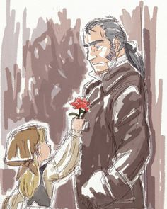 20140418 Javert And A Flower Girl by crowanimation