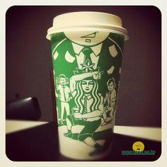 Starbucks_Cup_Art_by_Seoul_based_Illustrator_Soo_Min_Kim_2014_01 Logo Starbucks, Starbucks Cup Art, Seoul, Illustrator, Coffee Art, Cups, Tableware, Design, Concept