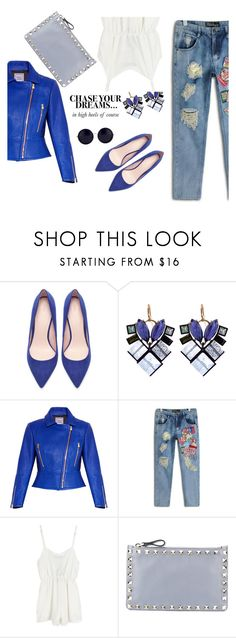 """""""Chase your dreams"""" by afef-ktari ❤ liked on Polyvore featuring Zara, Nak Armstrong, Hervé Léger, Valentino, The Row, chic, ootd, stylish and glam"""