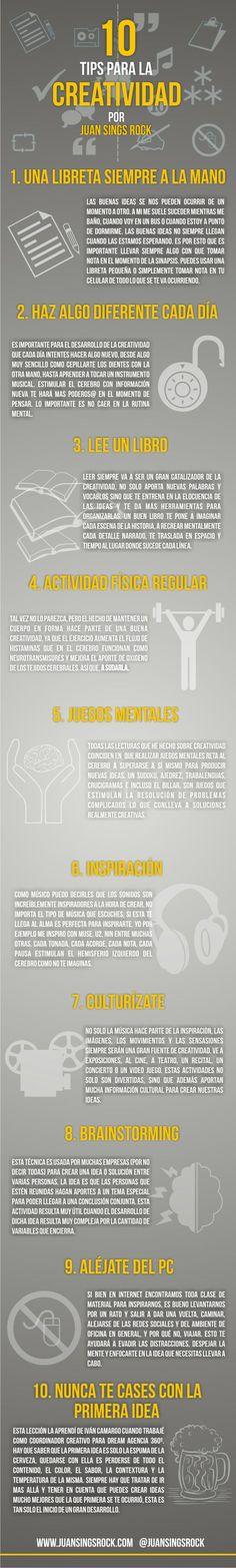 La creatividad es fundamental en la comunicación. Infografía con algunas ideas para ser creativo en los social media.