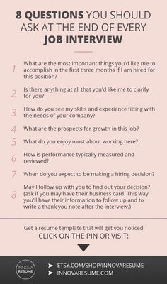 Questions you should ask at the end of every job interview. Need a resume that will land you a job interview? Informations About 8 Questions You Should Ask At Every Job Interview Pin You can easily us Job Interview Preparation, Interview Skills, Job Interview Questions, Job Interview Tips, Job Interviews, Starbucks Interview Questions, Preparing For An Interview, Good Interview Answers, Assistant Principal Interview Questions