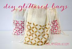DIY Glittered Gift Bags