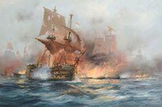 HMS Victory in battle
