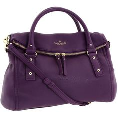 Kate Spade New York Cobble Hill Small Leslie found on Polyvore featuring polyvore, women's fashion, bags, handbags, shoulder bags, women, kate spade crossbody, purple purse, purple shoulder bag and hand bags