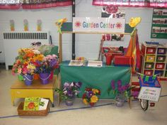 Spring Garden Pretend Play Center and Preschool Lesson Plan. Could do a fruit/vegetable stand!