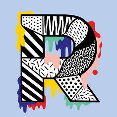 R by Casiegraphics #36daysoftype #typeillustration