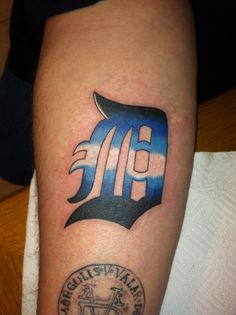 1000 images about detroit tigers tattoos on pinterest for Detroit d tattoo