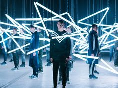 A kinetic light show captured the energy created when shared principles of design utility and technology converge. adidas Originals by White Mountaineering arriving August. by adidasoriginals Bg Design, Stage Design, Event Design, Stage Lighting, Neon Lighting, Lighting Design, Vitrine Design, Photowall Ideas, Neon Rose