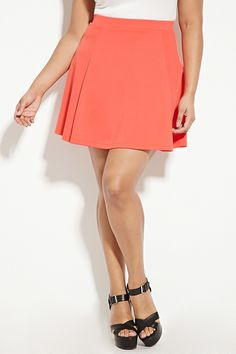 Plus Size Skater Skirt | Forever 21 PLUS - 2000168198