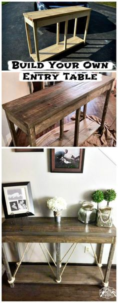 DIY Wooden Entryway Table Tutorial - 25 Best DIY Entryway Table Ideas with Tutorials - Page 3 of 3 - DIY & Crafts