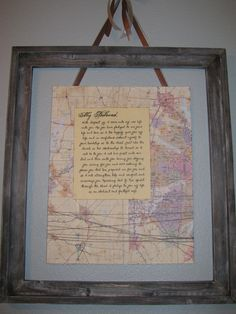 vows - hung in our bedroom & homemade wooden frame