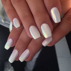 white nails - Google Search